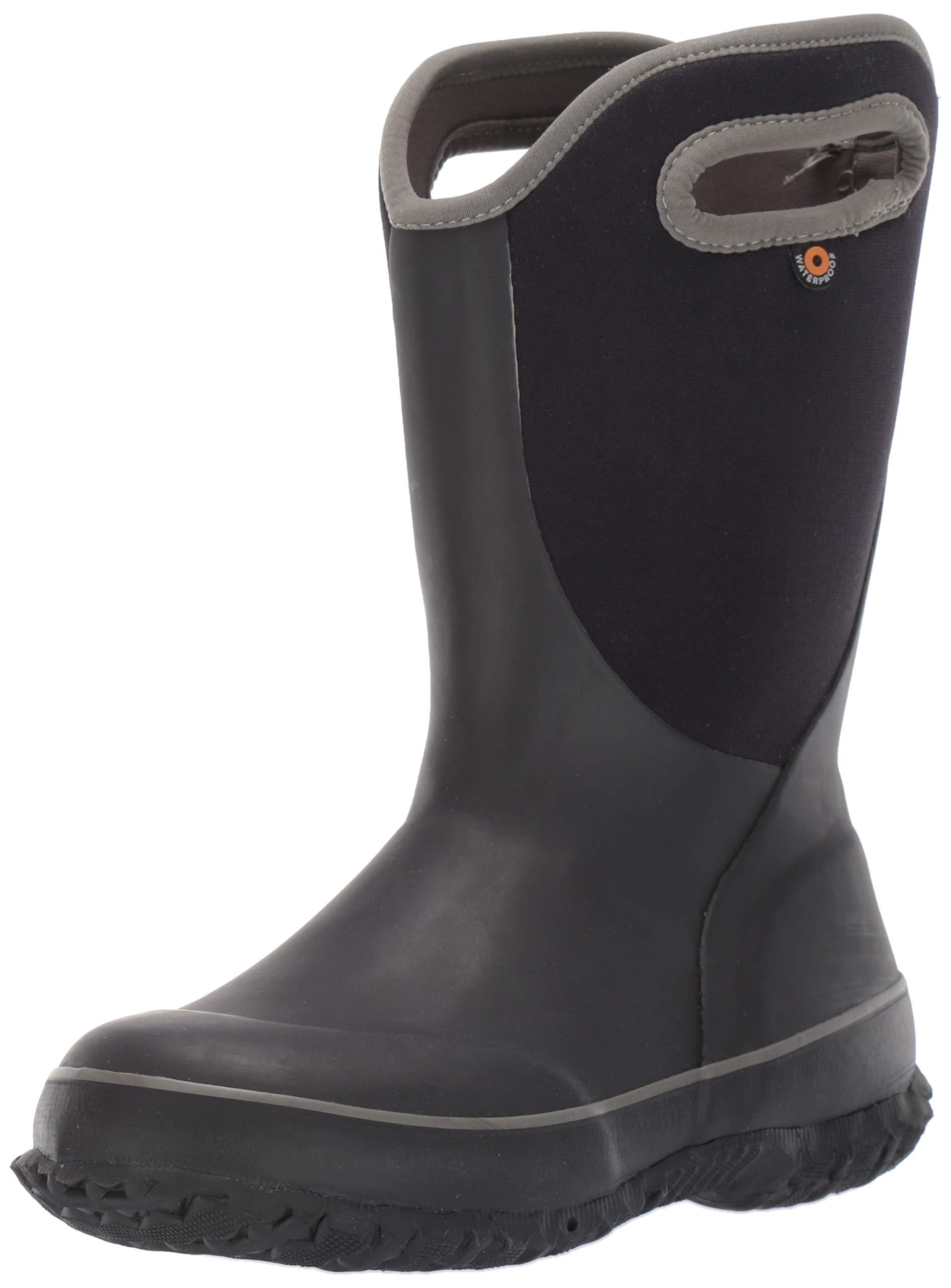 Bogs Unisex Slushie Snow Boot, Solid Black/Multi, 5 Medium US Big Kid by Bogs (Image #1)