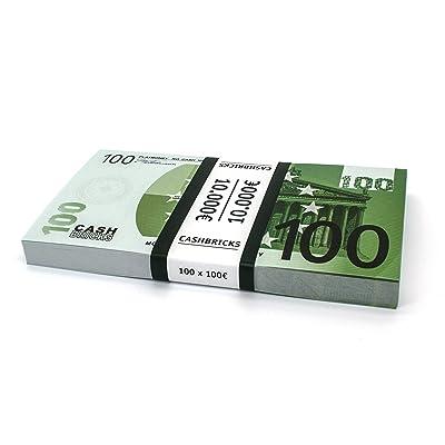 100 x €100 EURO Cashbricks® dinero de juguete: Juguetes y juegos