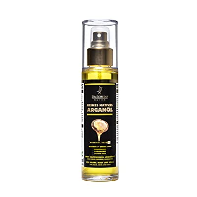 Dr. Schedu Berlin pure native Moroccan unroasted Argan oil,first cold pressing,without chemical treatment,for hair,face,skin,and nails,100ml(3.38Fl Oz),silicone-free and cruelty-free,made in Germany!