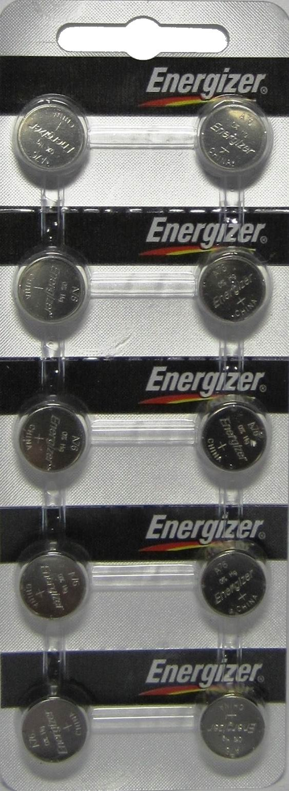 Energizer LR44 A76 1.5V Button Cell Alkaline Batteries x 16, As Pictured