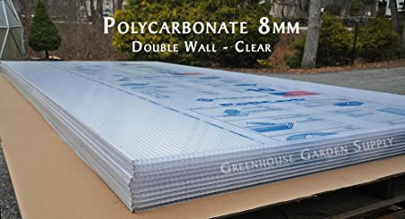 1//2 10/'/'x48/'/'x14mm PAC OF 3 Polycarbonate Clear Sheet