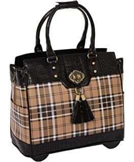 7ba9ecc031 Mad for Plaid Rolling Computer iPad Tablet or Laptop Tote Briefcase  Carryall Bag