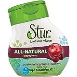 Stur® Clairement Airelles Grenade - 30 délicieuses portions dans chaque petite bouteille pour fabriquer plus de 4 litres de boisson. Naturels, sans sucres, sans calories, enrichis en vitamine C.