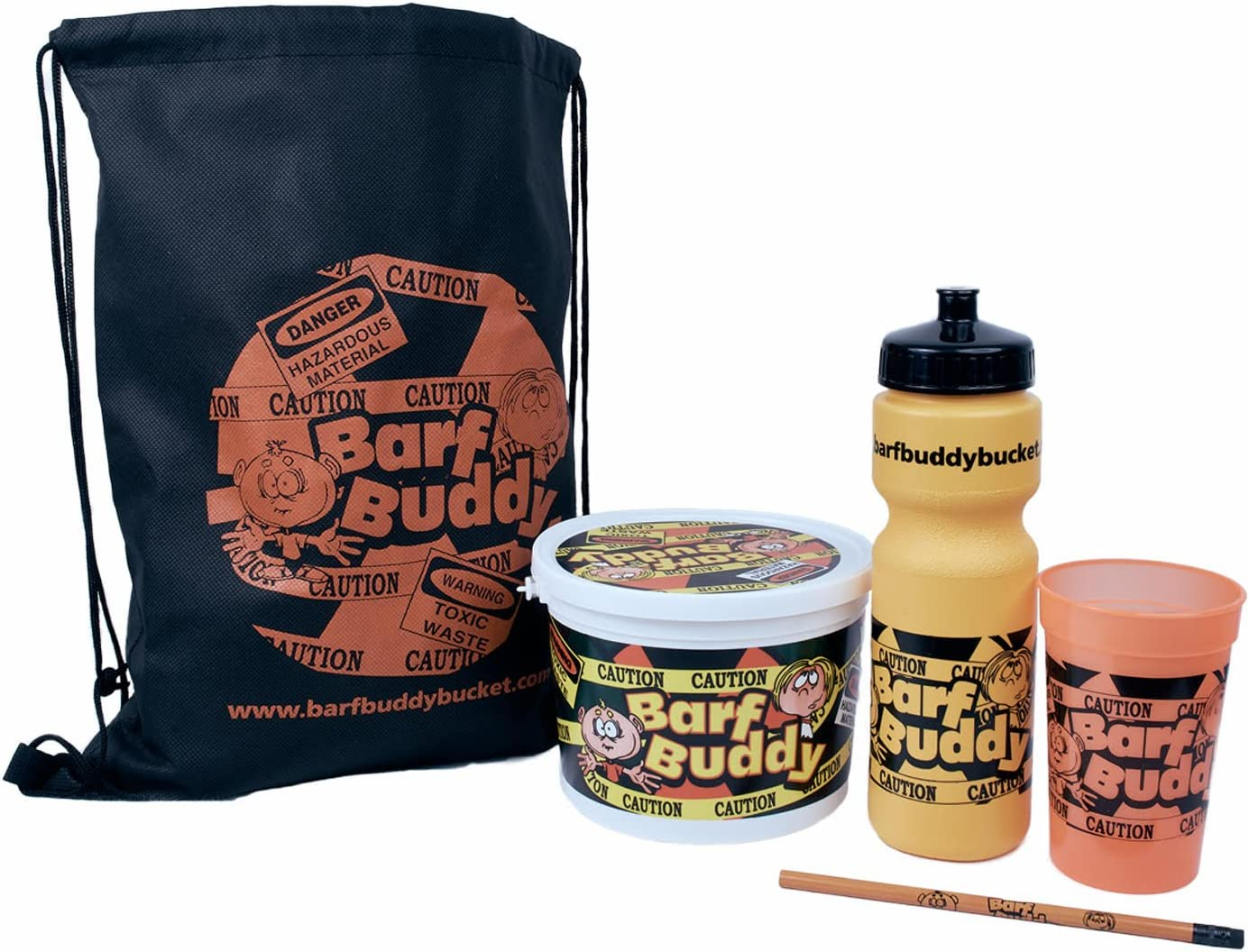 The funny novelty Kids Barf Buddy Bucket with leak proof lid