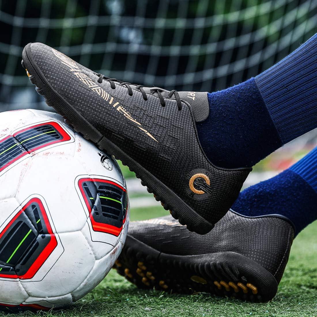 Topoption Chaussures de Football Homme Adulte Professionnel Antid/érapant Athl/étisme Entrainement Adolescents Chaussures de Sport Unsisexe