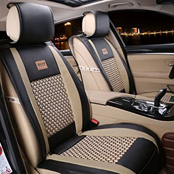 Amazon.com: Easy to Clean PU Leather Car Seat Cushions 5 seats Full