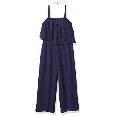 Amy Byer Girls Pleated Popover Jumpsuit