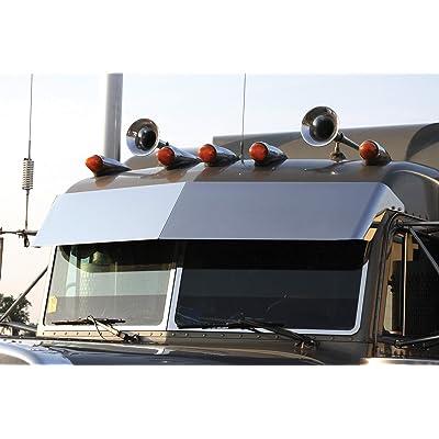 "Roadworks 35065 Stainless Steel 14"" Blind Mount Drop Visor for 1987-2020: Automotive"