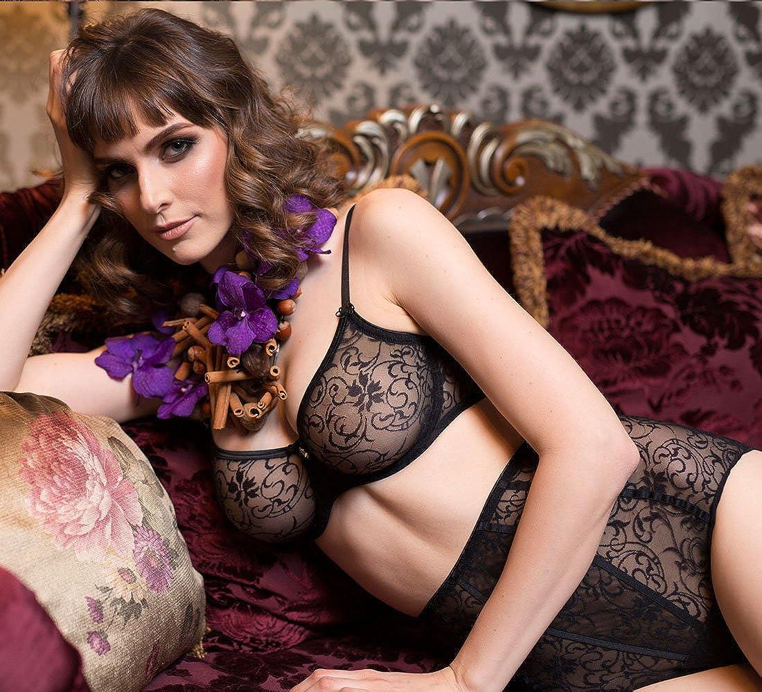 4d95f94bfe8 Lavinia Laura Sheer Lace High Waist Brief Panty