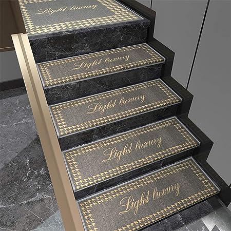 YUXO Las Huellas De Escalón Juego de alfombras de la Escalera Juego de alfombras for escaleras Antideslizante Alfombra Art Step Alfombra Morden Resumen Alfombra Moderna Inicio Dector Alfombras: Amazon.es: Hogar