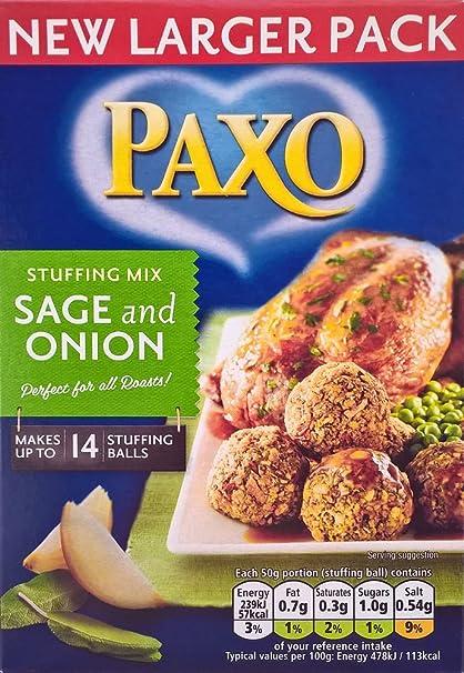 Paxo salvia y el relleno de cebolla Mix - 3 x 190g