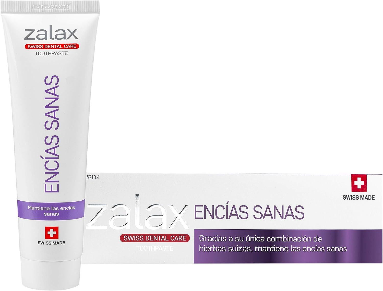 ZALAX ENCIAS SANAS- Pasta de dientes para encías sensibles – Protege y fortalece las encías - Pasta de dientes con flúor - Eficacia demostrada - 100 ml (PACK DE 1): Amazon.es: Salud y cuidado personal