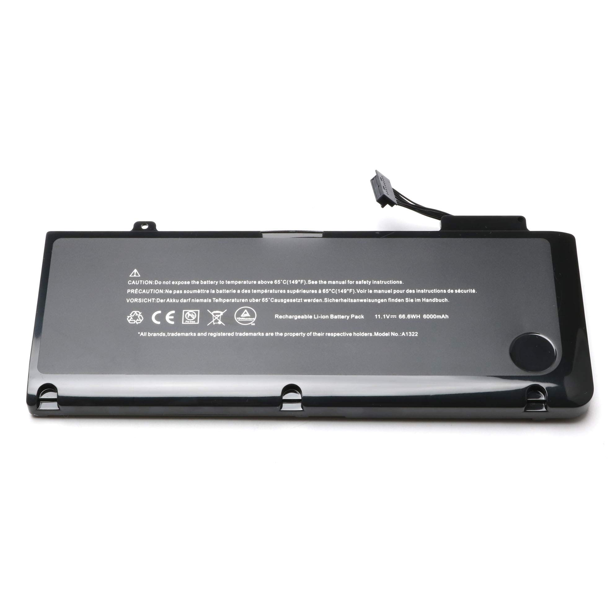 A1322 New Laptop Battery for MacBook Pro 13'' A1322 A1278 (Mid 2009,Mid 2010,Early 2011,Late 2011,Mid 2012);661-5229 020-6547-A 661-5557 MB990LL/A MB991LL/A MC374LL/A MC700LL/A --12 Months Warranty by WENYAA (Image #2)