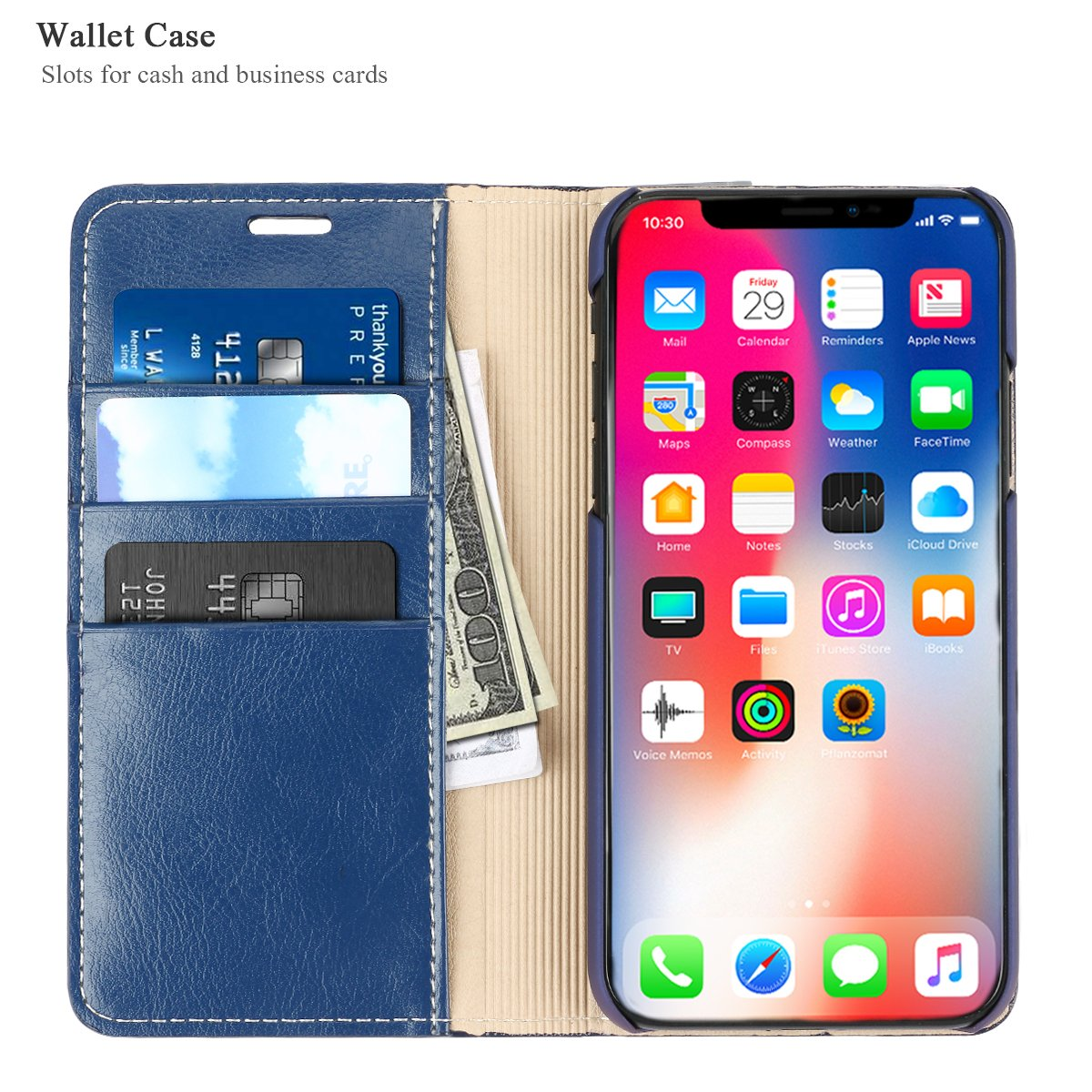 Amazon.com: iPhone Funda tipo portafolios, iPhone 10 Funda ...