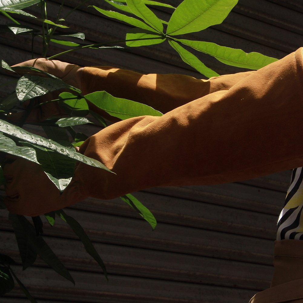 hct05 Thorn prueba guantes para hombres y mujeres Blackberry guantes de jardiner/ía de lunares guantes de piel de cabra guantes Cactus Rosa poda codo longitud guantes de jardiner/ía