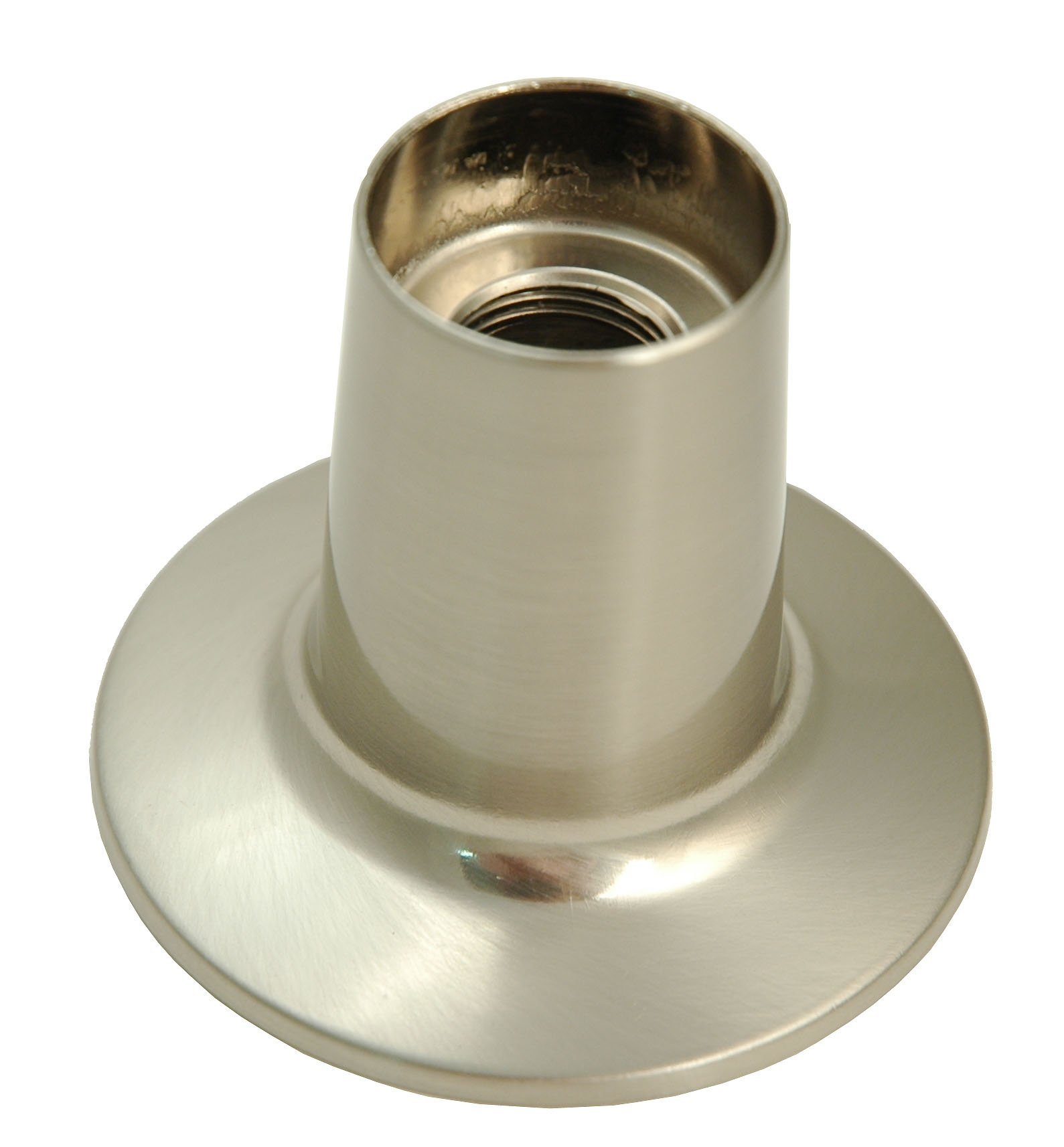 3-handle Tub & Shower Faucet, W. Compression Stems - By Plumb USA (Satin Nickel Finish) by PlumbUSA