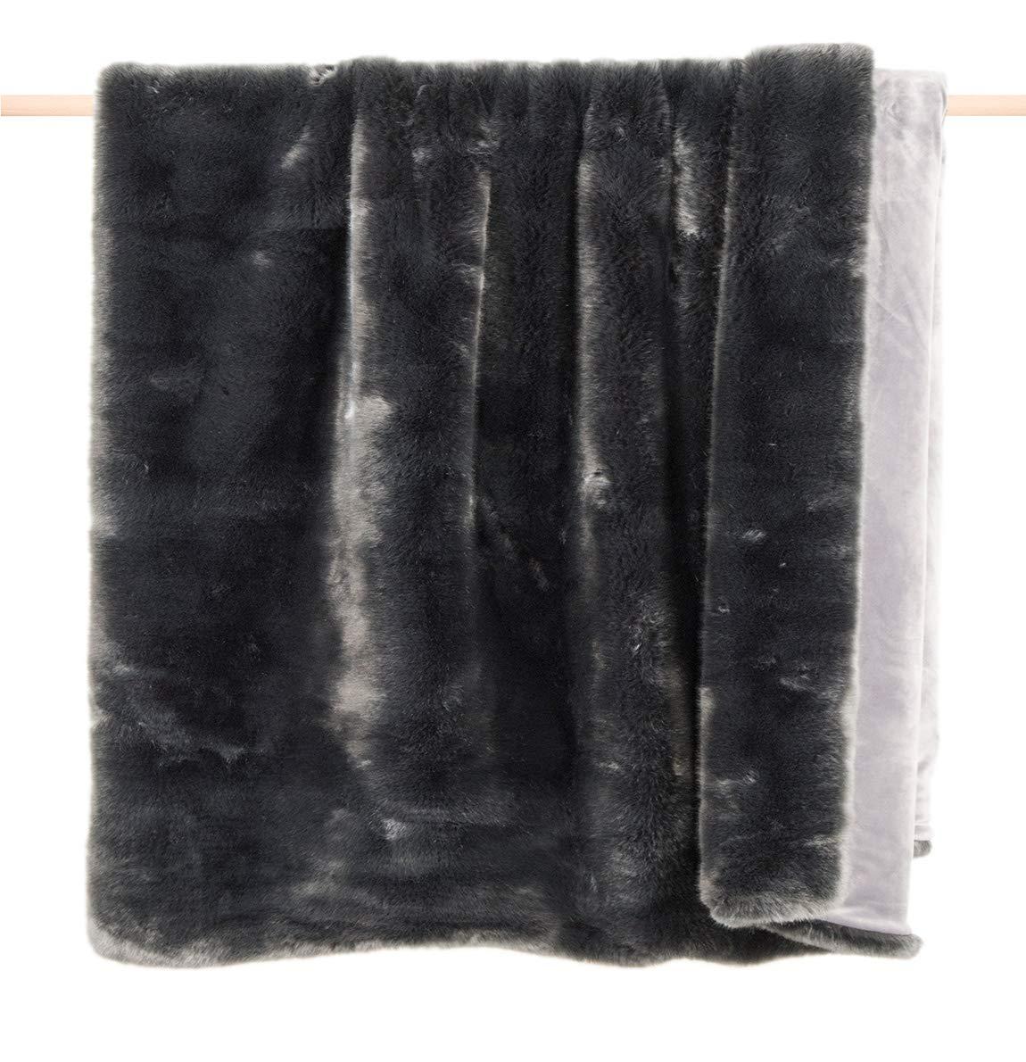 Pad - Decke - Kuscheldecke - Wohndecke - Sheridan - Kunstfell - Grau grau - 140 x 190 cm