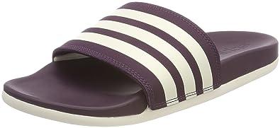 classic fit c759c 8649e adidas Herren Adilette Cloudfoam Plus Stripes Dusch-  Badeschuhe  Mehrfarbig S18chalk White