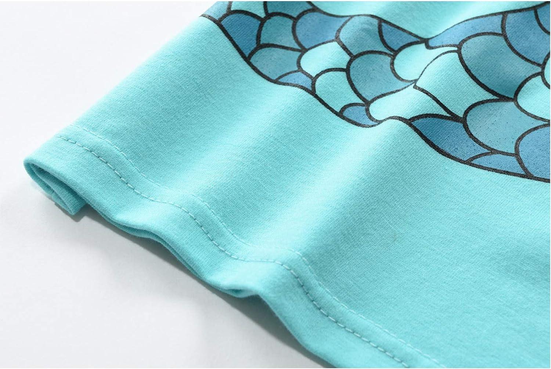 M/ädchen Schlafanzug Baumwolle Lange Nachtw/äsche Kinder Pyjama 92 98 104 110 116 122
