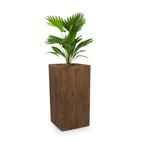 Blumfeldt Timberflor • Maceta para Plantas • Tiesto • Fácil de Colocar • Sin Orificio de