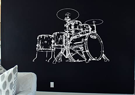amazon drum set decal drum set sticker drums decor drums rock