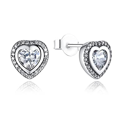 Professional Sale 0.4cm Diamante Silver Plated Stud Earrings 100% High Quality Materials Jewellery & Watches