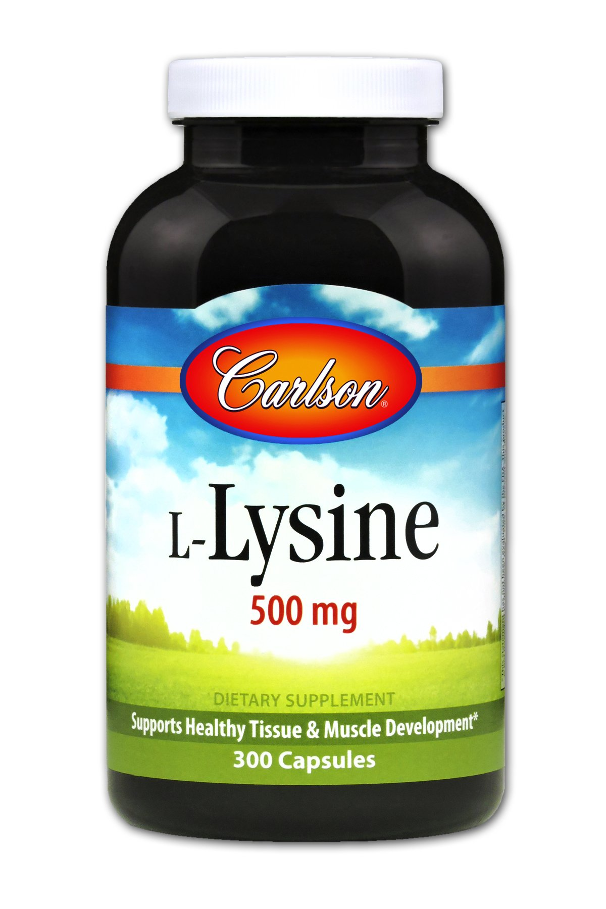 Carlson - L-Lysine, 500 mg, Supports Healthy Tissue & Muscle Development, 300 capsules by Carlson