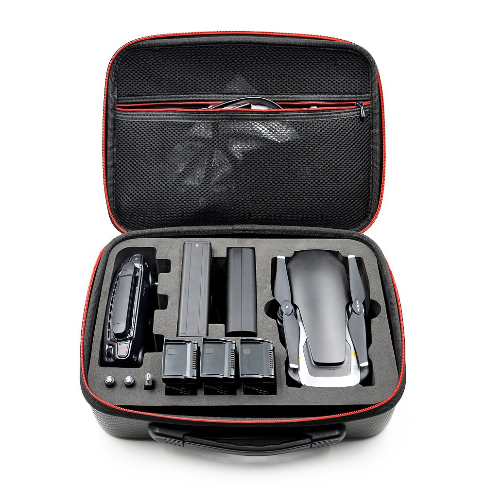 YSTFLY Waterproof PU Handbag Storage Bag Carrying Case for DJI Mavic Air Drone Controller 3 Batteries Accessories by YSTFLY