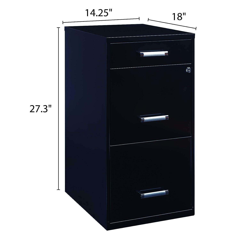Strange Office Dimensions 18 Deep 3 Drawer Metal File Cabinet Organizer With Pencil Drawer Black Download Free Architecture Designs Embacsunscenecom