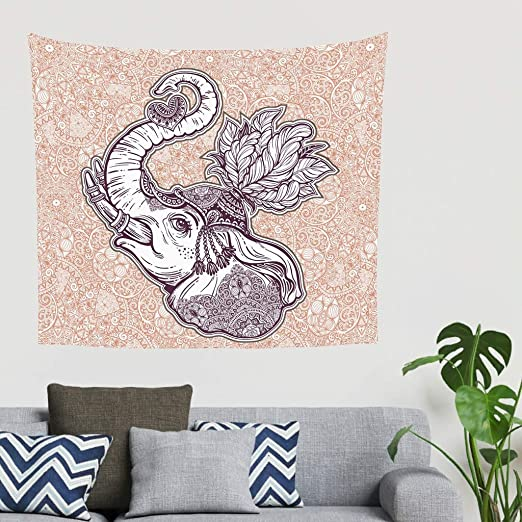 Charzee Elephant Head Tapestry Pared Colgar Elephant Gifts ...