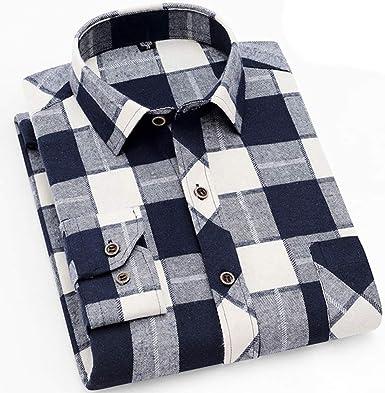 Hombre Camisa - Retro Camisa A Cuadros Primavera Verano ...