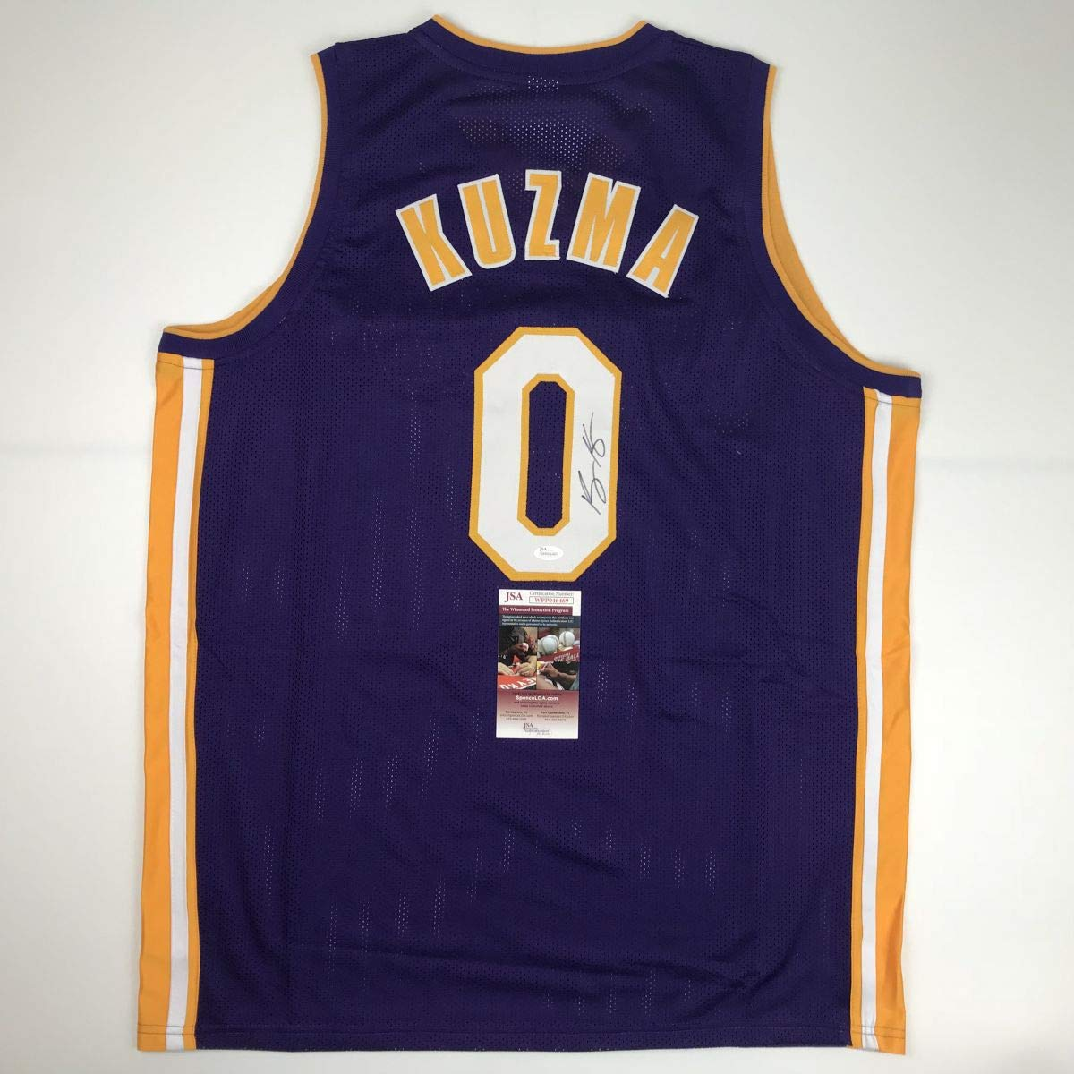 0b7402d0dd1 Autographed Signed Kyle Kuzma Los Angeles LA Purple Basketball Jersey JSA  COA at Amazon s Sports Collectibles Store