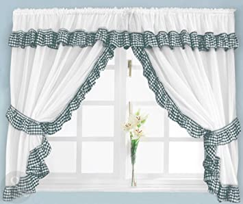 Just Contempo - Juego de cortinas para cocina (254 x 92 cm), diseño ...
