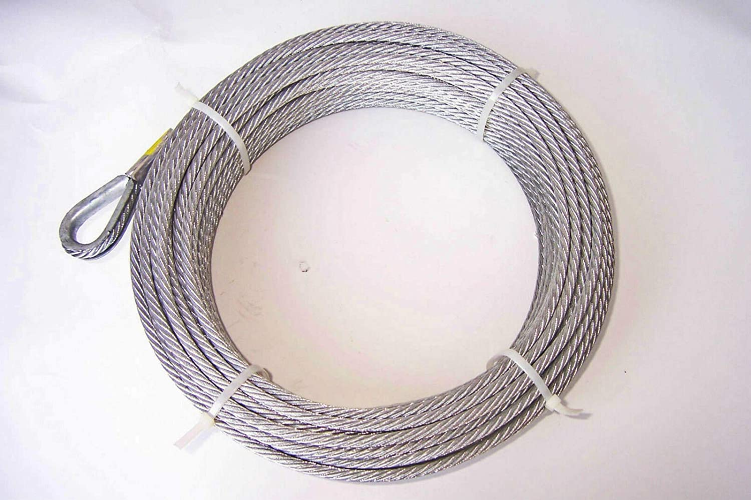 1/4 inch x 50 ft Galvanized Wire Rope Winch Cable 7x19 Core