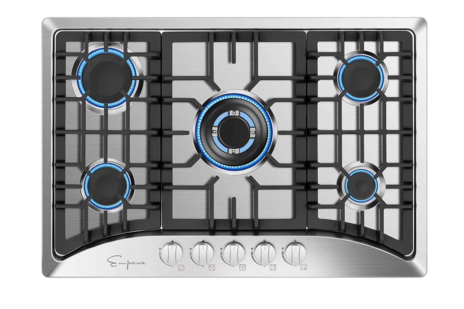 "Empava 30"" Built-in Gas Cooktop in Stainless Steel with 5 Burners 30XGC5B70C"