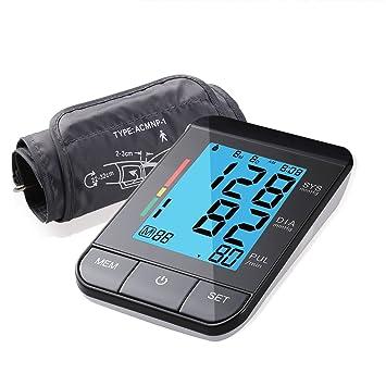 Guisee Tensiómetro de brazo con detección del pulso arrítmico 180 memorias para 2 Usuarios