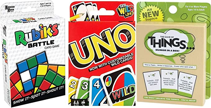 Funny Battle Things Juego Go Uno Wild Tarjetas + Rubik Cube Battle ...