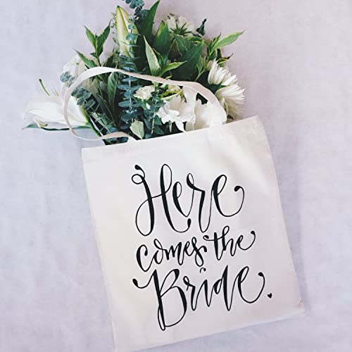 Here Comes The Bride Bridal Shower Gift Bag Bride Bag Wedding Day Tote