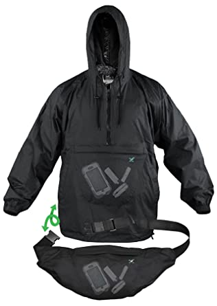Xpocket Lightweight Packable Rain Jacket / Breathable Windbreaker