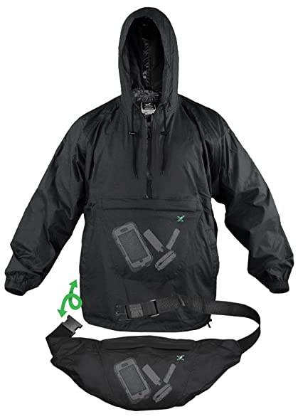 Xpocket Lightweight Packable Rain Jacket / Breathable Windbreaker ...