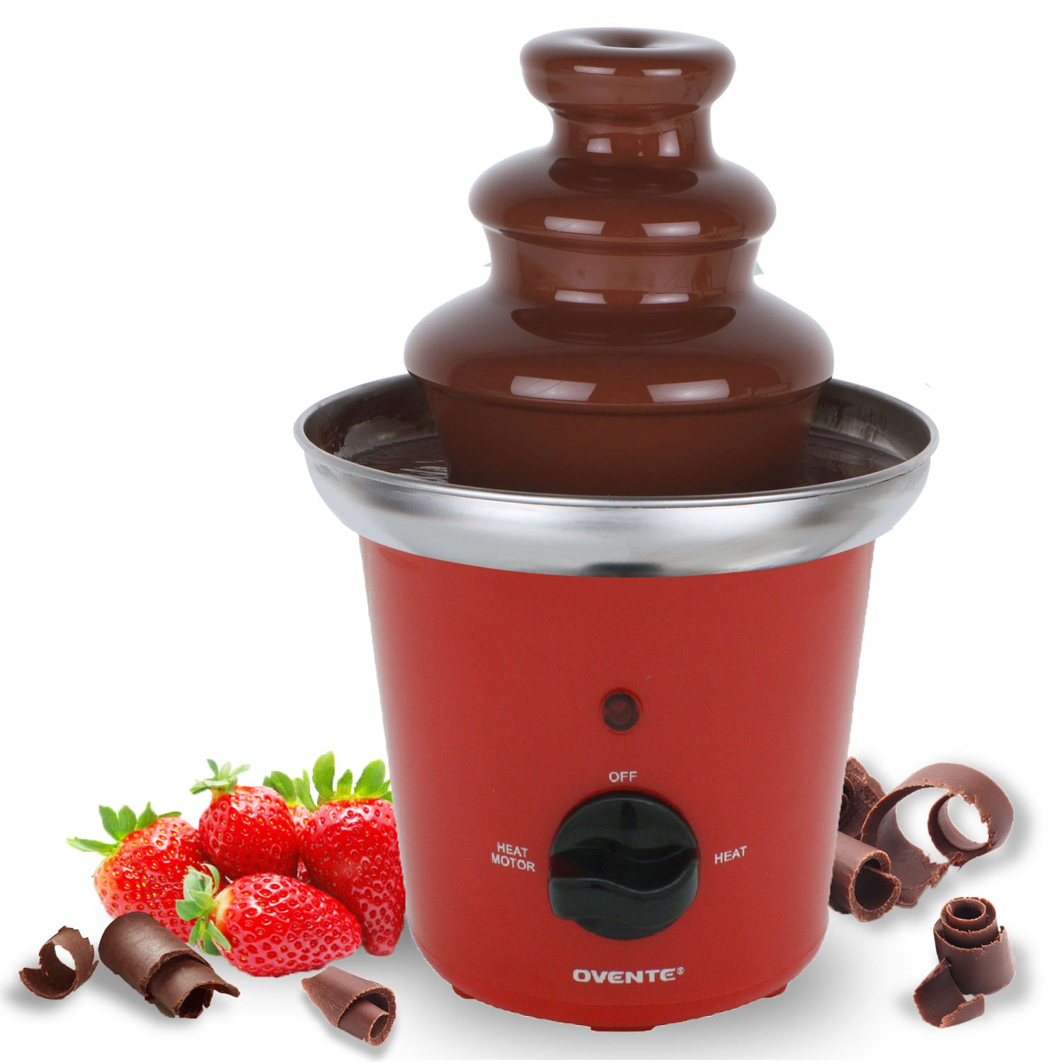 Amazon.com: Ovente 2-Tier Chocolate Fountain Stainless Steel, 9 ...