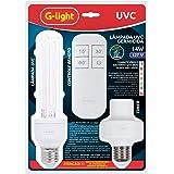 Lâmpada Germicida UVC Timer + Controle 2U 14W Combate Bactérias e Vírus- 127v