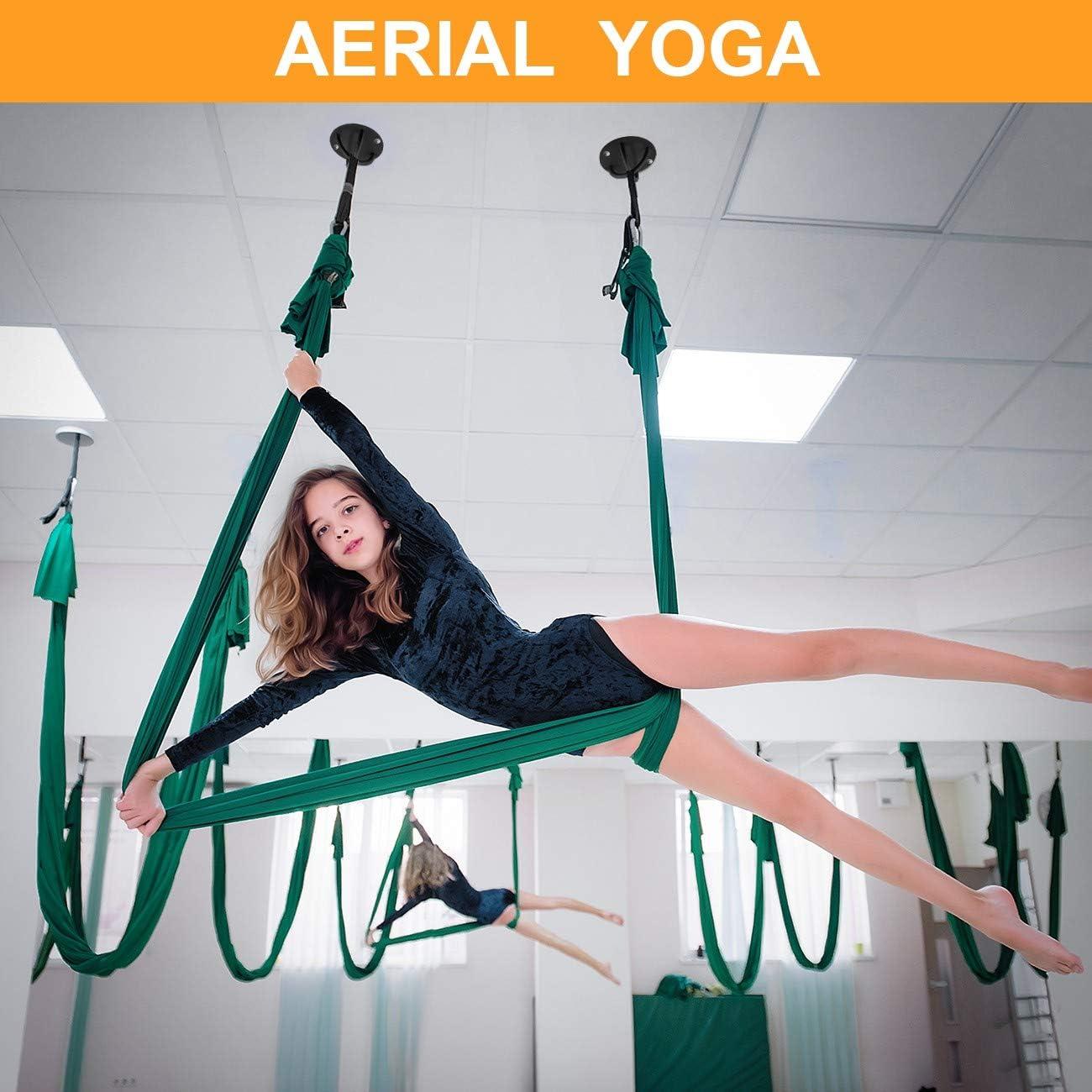 Overmont Soporte Anclaje de Techo Pared Incluye Juego de Tornillos para Correas de Suspensión Anillos de Gimnasia Yoga Swing Cuerdas de Batalla