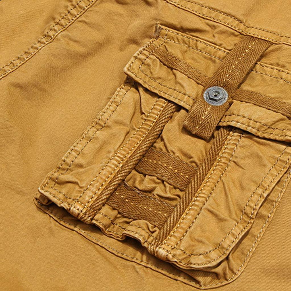 Shorts for Men,Summer Fashion Mid-Rise Mens Shorts Loose Casual Multi-Pocket Tooling Pants