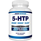 5-HTP 200mg Plus Calcium for Mood, Sleep, Anxiety - Boosts Serotonin Production - 99% High Purity – 120 Capsules – Arazo…