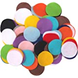 100 pc Mixed Color Assortment 1 inch Felt Circles