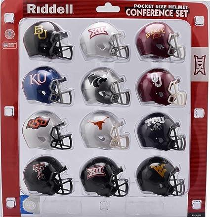 e688a9eaae Amazon.com   Riddell NCAA Big 12 Helmet Pocket ProBig 12 Conference Set  Pocket Pro Speed Style 2018