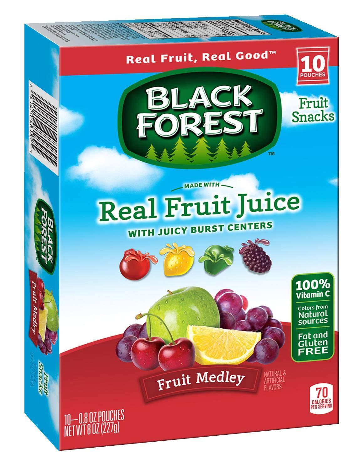Black Forest Fruit Snacks, Fruit Medley, 0.9 Ounce Bag, Pack of 10