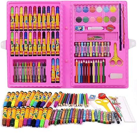 Caja Colores Niños,150 Piezas de Juego de bolígrafos de Acuarela, Pintura al óleo para niños de jardín de Infantes, Pintura en Color Puede lavarse en Rosa,Creatividad Art Set para: Amazon.es: Hogar