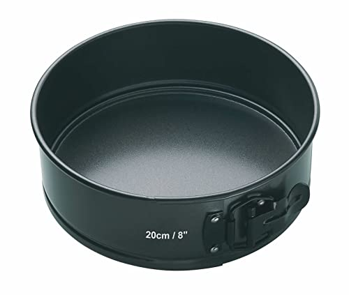 KitchenCraft Master Class Non Stick Quick-Release Springform Cake Tin with Loose Base, 20 cm (8 Inch)